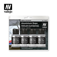 Vallejo Metal Color 77.603 Aluminium Dope Set 4x32ml