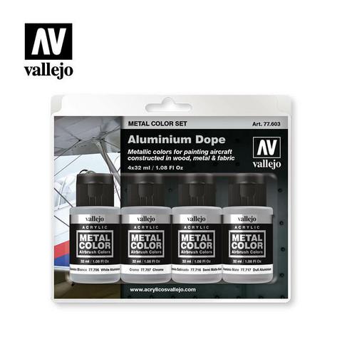 Vallejo Metal Color 77.603 Aluminium Dope Set 4x32ml