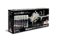 Italeri Modern USAF/U.S. Navy Aircraft maalisetti 6x20ml