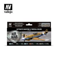 Vallejo Model Air 71.164 Luftwaffe Maritime & Tropical colors maalisetti 8x17ml