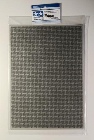 Tamiya Diorama Material Sheet - Gray-Colored Brickwork A