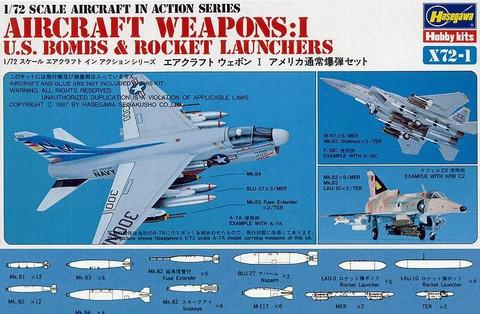 Hasegawa 1/72 Aircraft Weapons: I U.S. Bombs & Rocket Launchers