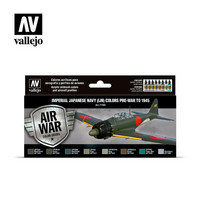 Vallejo Model Air 71.169 Imperial Japanese Navy (IJN) Colors Pre-War To 1945 maalisetti 8x17ml