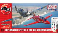 Airfix 1/72 Supermarine Spitfire & RAF Red Arrows Hawk aloituspakkaus
