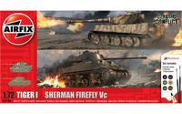 Airfix 1/72 Tiger I vs Sherman Firefly Vc aloituspakkaus