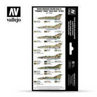 "Vallejo Model Air 71.607 Soviet/Russian colors MiG-21 ""Fishbed"" from 50's to 90's maalisetti 8x17ml"