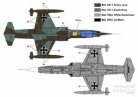 Kinetic 1/48 F-104G Luftwaffe Starfighter