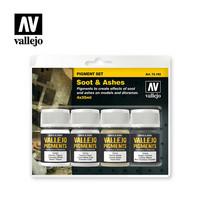 Vallejo Pigments 73.193 Soot & Ashes pigmenttisetti 4x35ml