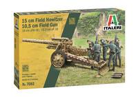 Italeri 1/72 15cm Field Howitzer 10,5cm Field Gun
