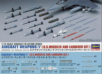 Hasegawa 1/72 Aircraft Weapons:V (U.S. Missiles and Launcher Set)
