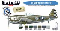 Hataka Blue Line US Army Air Force maalisetti 6x17ml