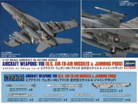 Hasegawa 1/72 Aircraft Weapons: VIII (U.S. Air-To-Air Missiles & Jamming Pods)