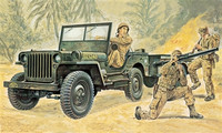 Italeri 1/35 Willys MB Jeep with Trailer