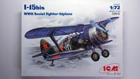 KÄYTETTY ICM 1/72 I-15bis WWII Soviet Fighter-biplane