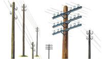 Italeri 1/35 Telegraph Poles