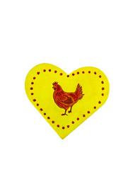 Sydänkyltti kanan kuvalla