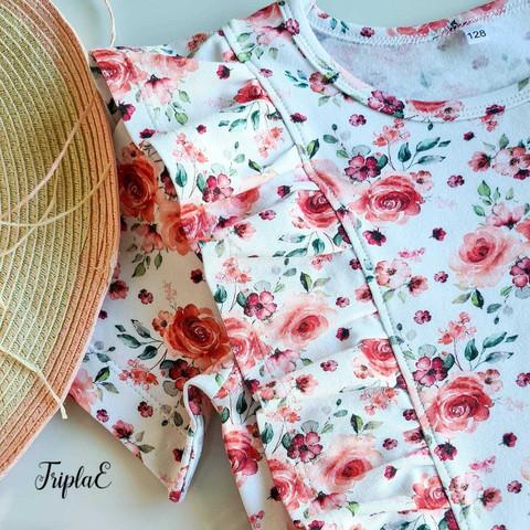 Romantic Rose -trikoo, valkoinen