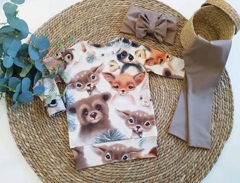Suloiset eläinlapset -trikoo