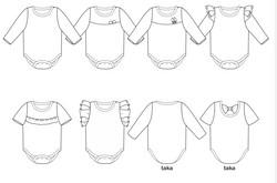 Kaisla&Kaius-bodyn ompelukaava
