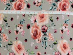 Romantic rose -trikoo, taupe ***80cm pala***