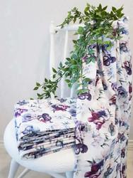 Purple flowers/ käyttöleveys n.170cm