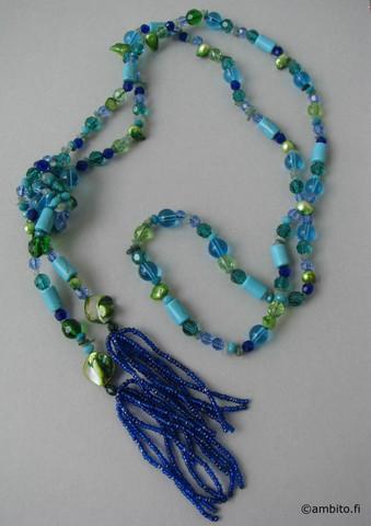 MidnightMoment -kaulakoru, sini/vihreä
