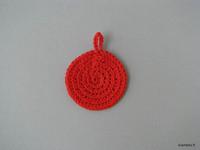 Kestovanulappu, halk. 7 cm, punainen