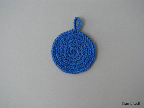 Kestovanulappu, halk. 7 cm, sininen