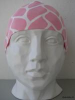 Trikoopipo, vaaleanpunainen, takasaumallinen