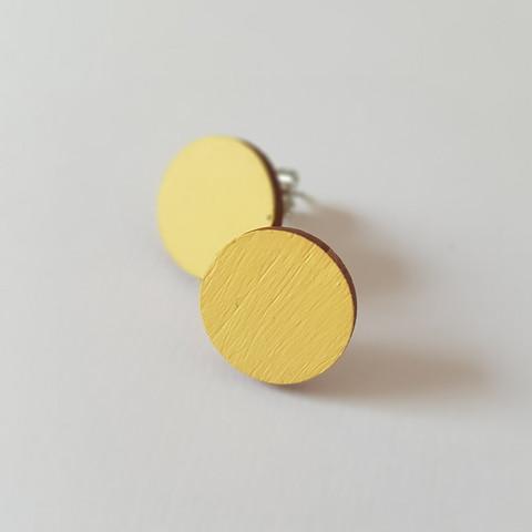Pyöreä nappikorvakoru, keltainen