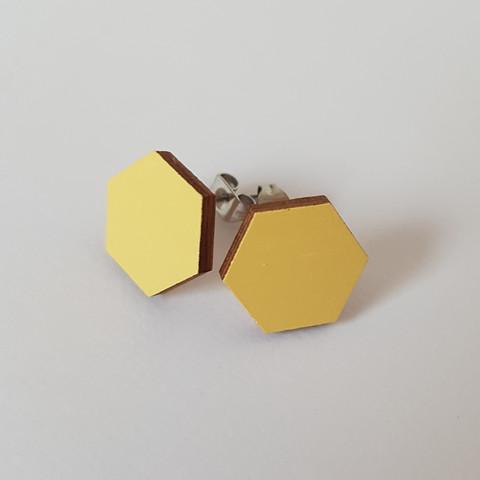 Nappikorvakoru kuusikulmio, keltainen