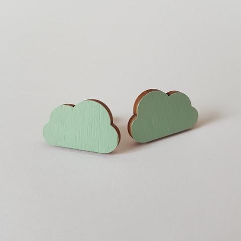 Pilvi nappikorvakoru, vaaleanvihreä
