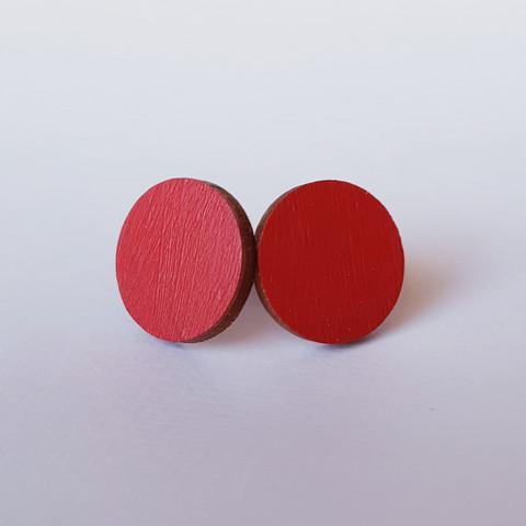 Pyöreä nappikorvakoru, punainen