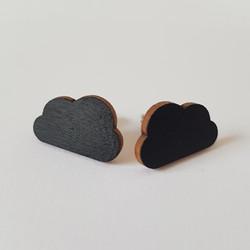 Pilvi nappikorvakoru, musta