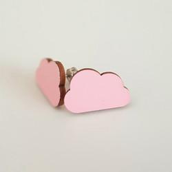 Pilvi nappikorvakoru, vaaleanpunainen