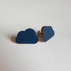 Pilvi nappikorvakoru, tumman sininen