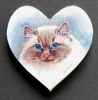 Kissamagneetti sydän nro 2