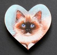 Kissamagneetti sydän nro 3