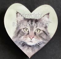Kissamagneetti sydän nro 7