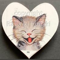 Kissamagneetti sydän nro 12