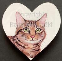 Kissamagneetti sydän nro 13