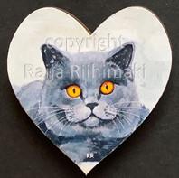 Kissamagneetti sydän nro 14