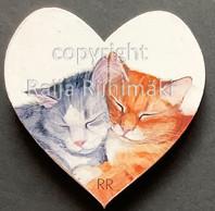 Kissamagneetti sydän nro 15