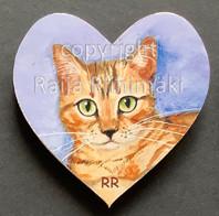 Kissamagneetti sydän nro 17