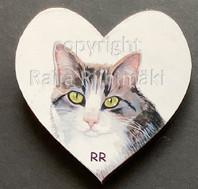 Kissamagneetti sydän nro 18