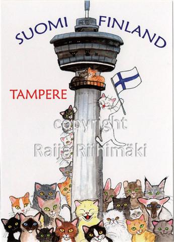 Tampere- postikortti /Näsinneula