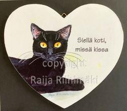 Vanerisydän musta kissa
