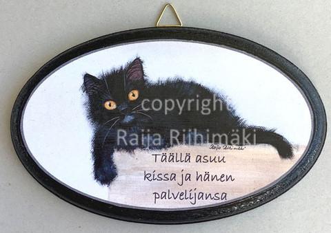 Ovikyltti kissan palvelijat, musta kissa