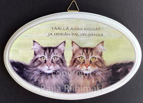 Ovikyltti kissan palvelijat, 2 kissaa