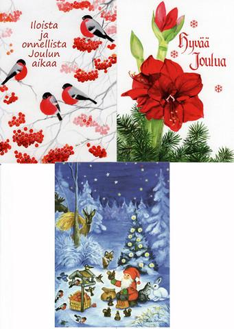 Joulukorttilajitelma 2, perinteiset kortit/ TARJOUS